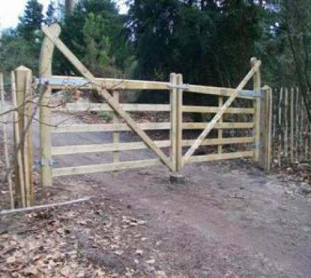 Poort toegangspoort grenen