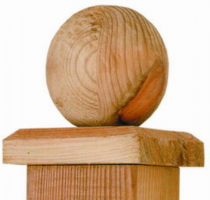 Paalornament hout voor tuinpaal