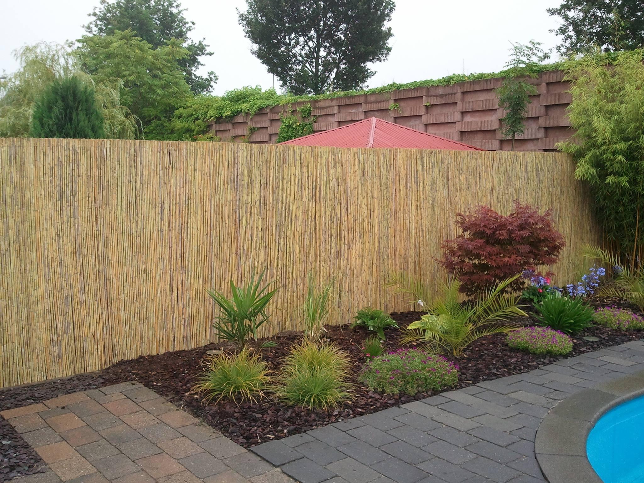 Bamboematten 2x5m ø10mm tuinscherm natuurlijke tuinafscheiding