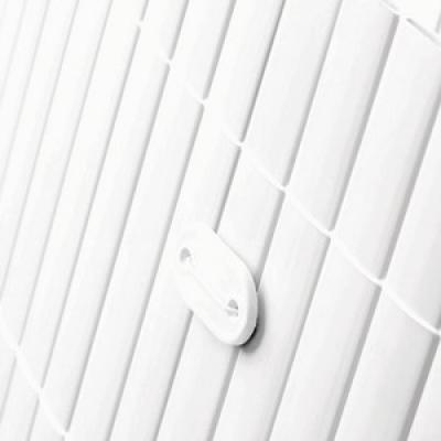 Tuinscherm tuinafscheiding kunststof PVC wit