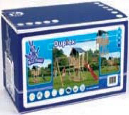 Houten speeltoestellen speeltoren bouwdoos Duplex