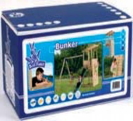 Houten speeltoestellen speeltoren bouwdoos Bunker