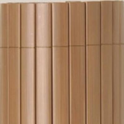 Tuinscherm tuinafscheiding kunststof PVC bruin