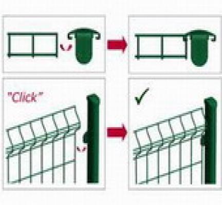 Paal voor hekwerk 250cm groen