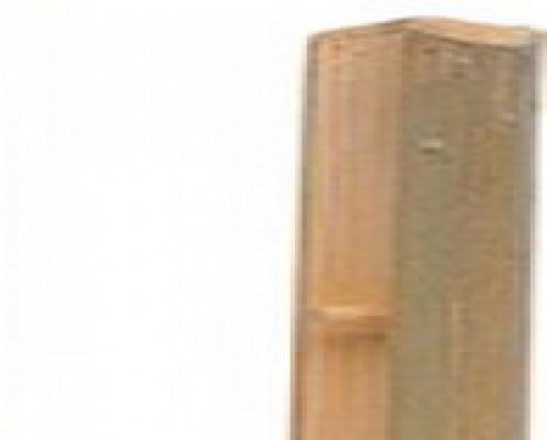 Eindpaal bamboescherm tuinscherm