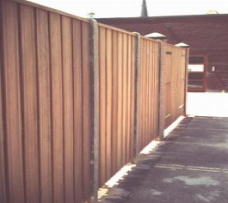 Hout beton schutting hardhout antraciet 200x190cm per set