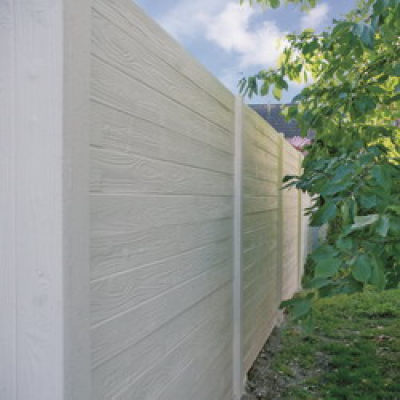 Beton schutting wood texture dubbel 200x193cm