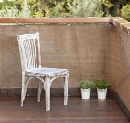 Balkondoek balkonscherm bruin 5 meter