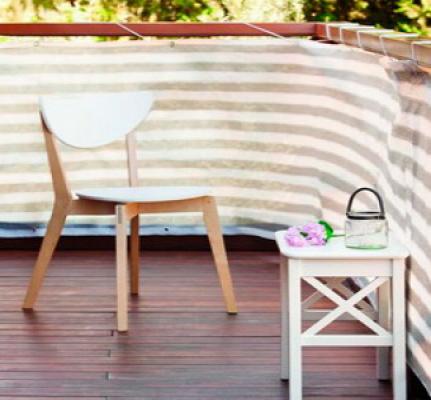 Balkondoek balkonscherm grijs/wit 5 meter