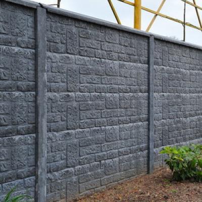Betonschutting brickstone enkel hoog 200x231cm