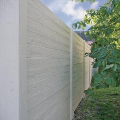 Betonschutting wood texture enkel hoog 200x231cm