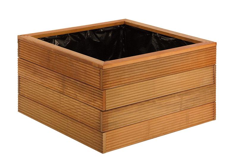 Houten bloembakken plantenbakken hardhout 90x90x75cm
