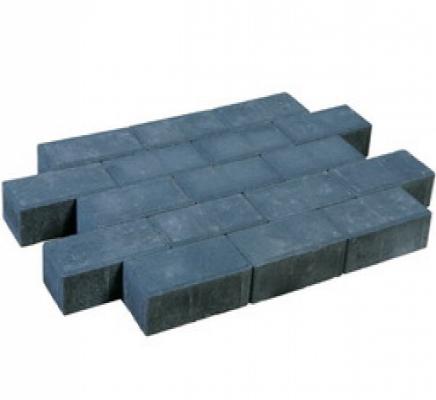 Betonklinkers dikformaat sierbestrating antraciet strak, 20x6,7x7cm, per m2