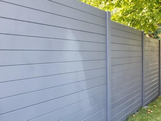 Betonschutting boardstone enkel hoog 200x231cm