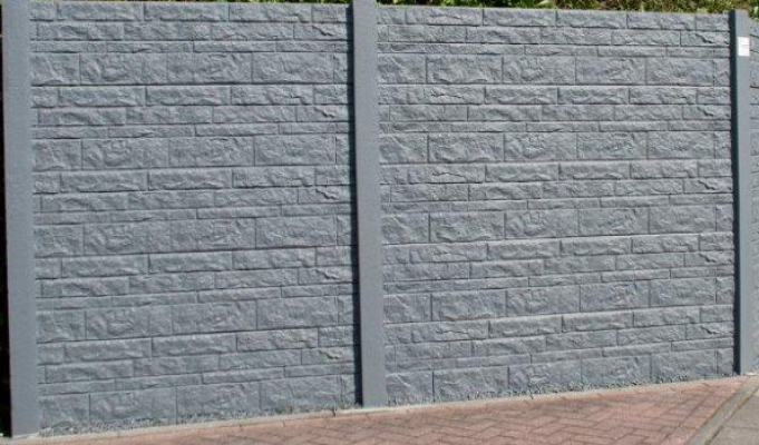 Betonschutting fencestone enkelzijdig hoog 200x231cm