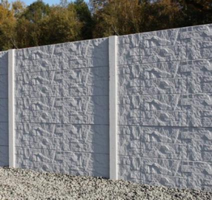 Betonschutting stepstone enkel hoog 200x231cm