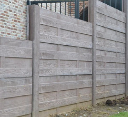 Betonschutting woodstone enkel hoog 200x231cm