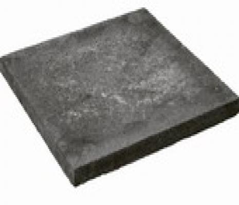 Betontegels stoeptegels sierbestrating zwart zonder facet 40x60cm