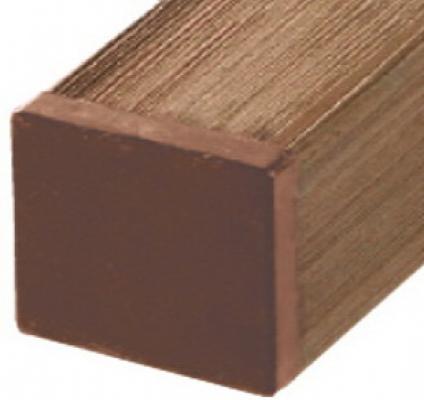 Tuinpaal houtcomposiet wpc bruin 7x7x185cm
