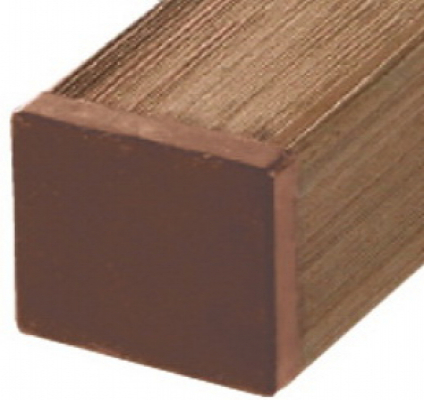 Tuinpaal houtcomposiet bruin 7x7x270cm