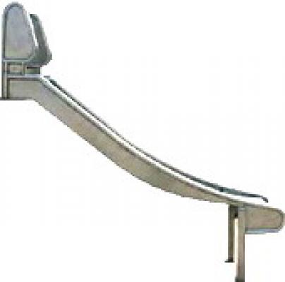 Glijbaan rvs voor speeltoestellen platvormhoogte 125-150cm