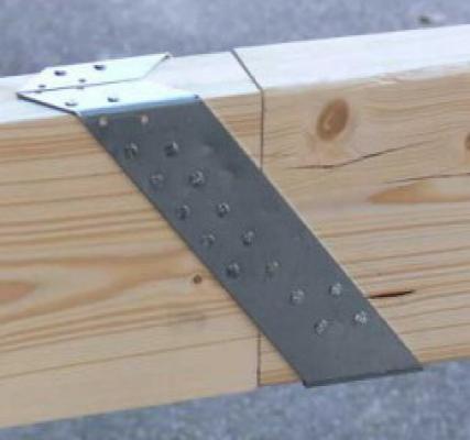 Gordinglas 75x200mm houtverbinding, verzinkt