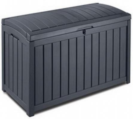 Opbergbox kussenbox antraciet 128x65x61cm