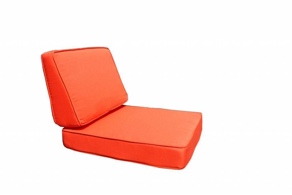Kussenhoesset voor Parijs loungeset oranje