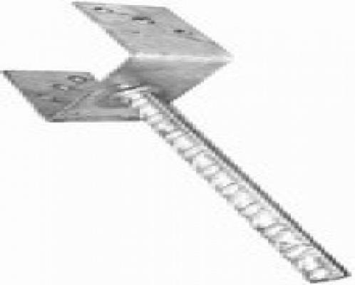 U-pergoladrager paalhouder licht lange pen 91mm