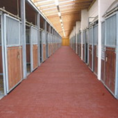 Stalmat paardenstal staltegels 100x100cm zwart