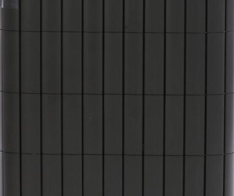 Tuinscherm kunststof pvc antraciet 2x3m