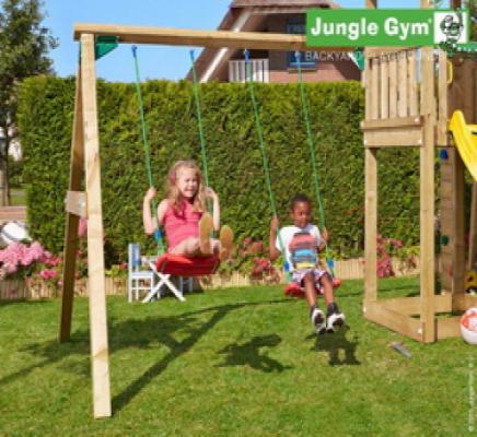 Houten speeltoestellen Jungle Swing aanbouwset swing module