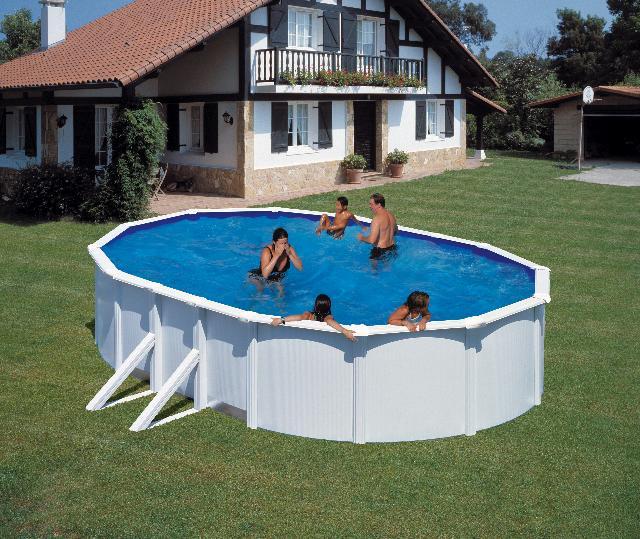 Zwembad stalen wand 610x375cm
